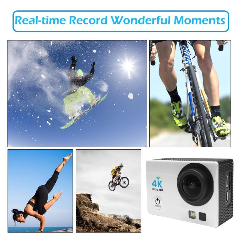 140 Degree Lens Sport Cam Helmet Video 2 0 quot WiFi 720P Ultra Action Camera 30M Waterproof Underwater Camera With Remote Control in Sports amp Action Video Camera from Consumer Electronics
