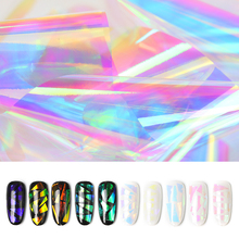 лучшая цена 20cm Irregular Symphony Explosion Patterns Broken Glass Nail Stickers Aurora Platen Paper Mirror Glass Paper Paper