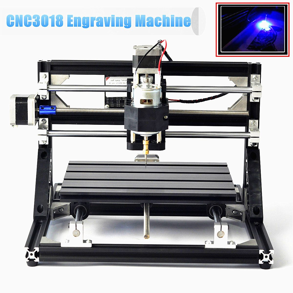 110V -240V CNC 3018 Engraving Machine Wood Router Woodworking Machinery Carving Machine or with 5500mW Laser Head Self Assembly110V -240V CNC 3018 Engraving Machine Wood Router Woodworking Machinery Carving Machine or with 5500mW Laser Head Self Assembly