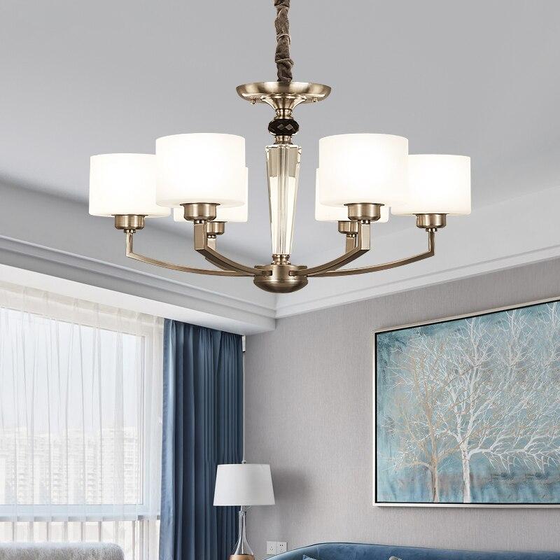 Us 138 81 24 Off Ditoon Post Modern Led Chandelier Nordic Lighting Living Room Bedroom Design Decor Simple Gl Shape Iron White Bronze Ers In