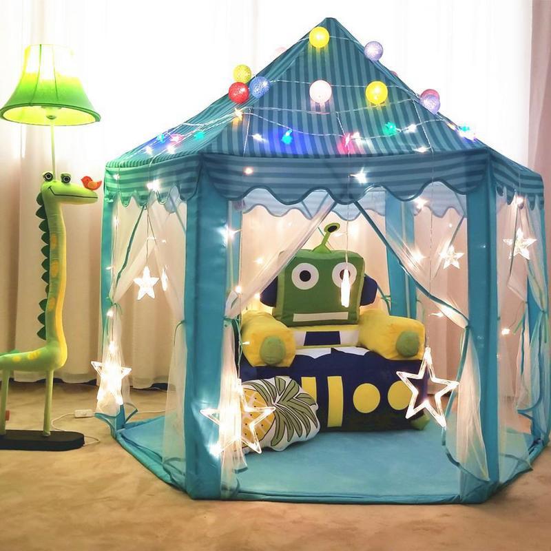 Hexagone Princesse Château Surdimensionné Tulle Enfants Tente de maison de jeu maison de jouet Anti-moustiquaires