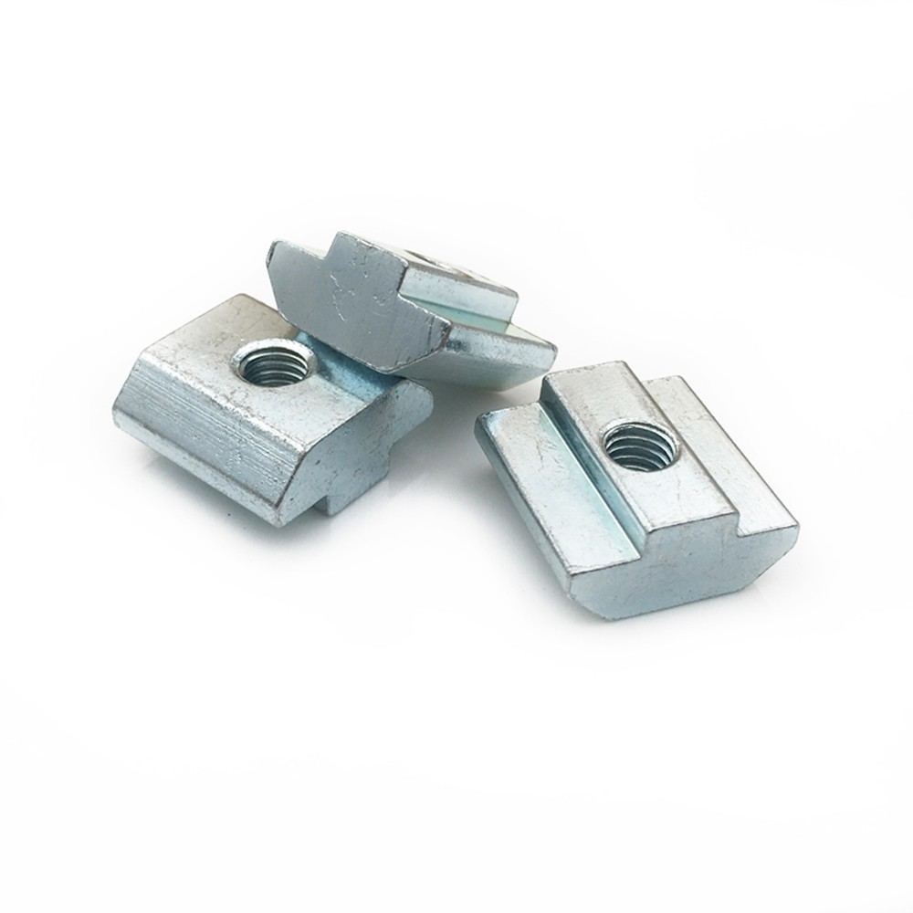 20pcs 50pcs/lot T Sliding Hammer Nut Block Square Nuts M5 Nut 2020 Aluminum Profile Slot Zinc Coated Plate Aluminum Accessories