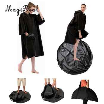 Beach Poncho Changing Robe & Swimming Surfing Wetsuit Diving Suit Change Bag Mat Waterproof Carry Pouch Water Sports Accessories - DISCOUNT ITEM  23% OFF Sports & Entertainment
