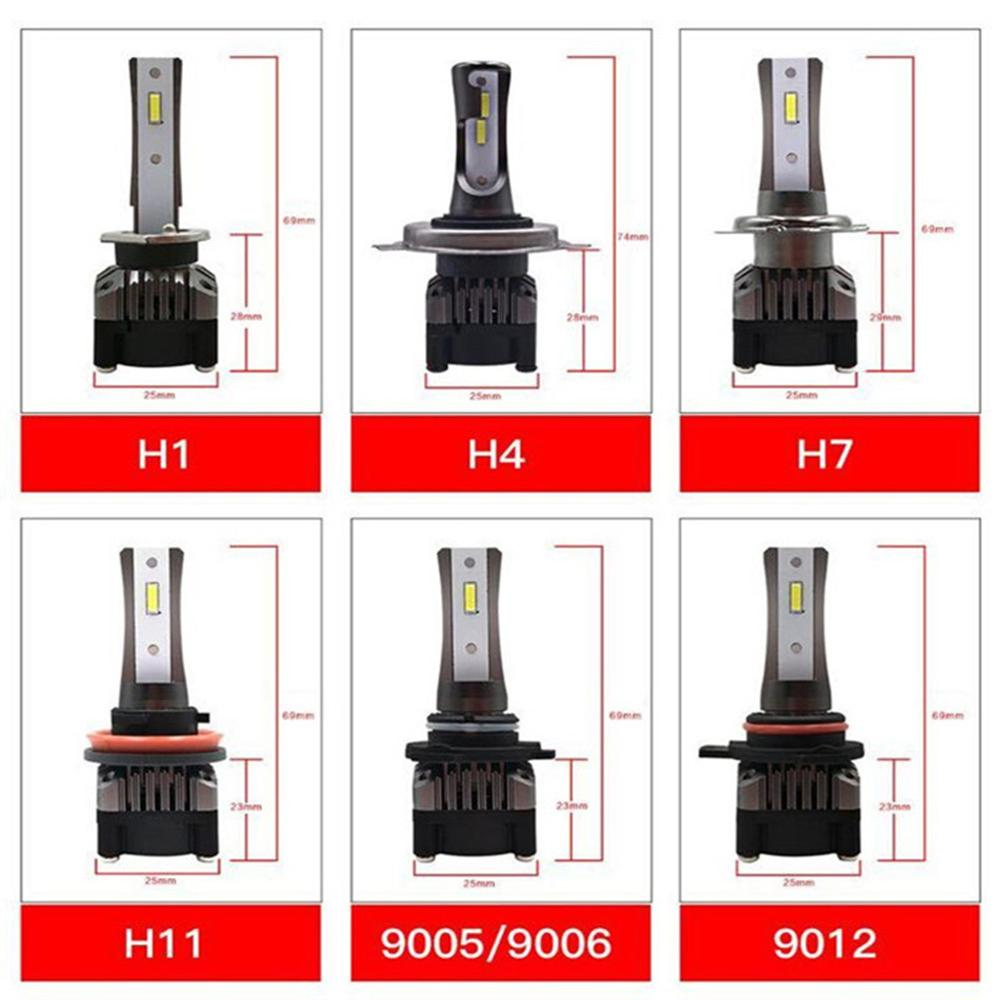 Image 5 - YOTONLIGHT 100W 10000lm H7 Led Bulb Led Headlight H4 H8 Hir2 9012 9004 9007 H13 9005 hb3 9006 hb4 Led Lamp H11 Car H1 6000K 12V-in Car Headlight Bulbs(LED) from Automobiles & Motorcycles