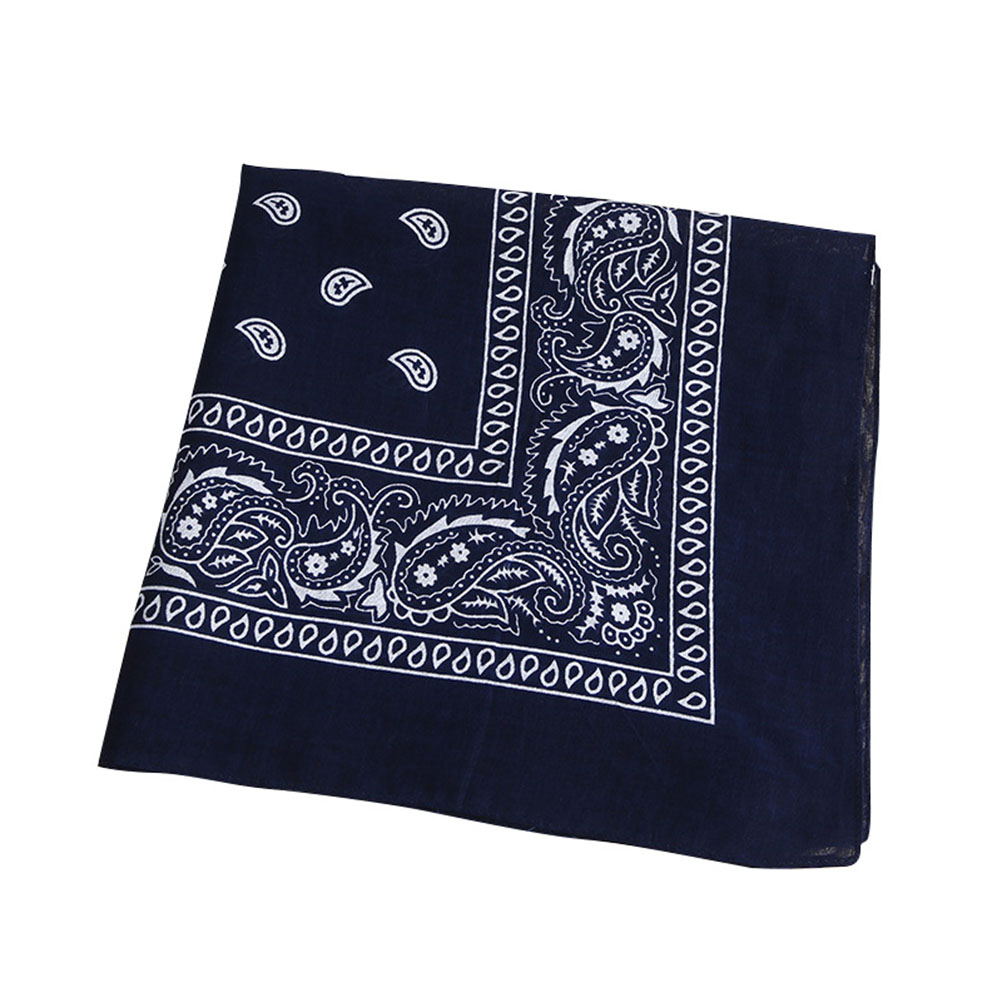 Multipurpose Bandana Printed Cotton Headband Sweat-absorbing Handkerchiefs