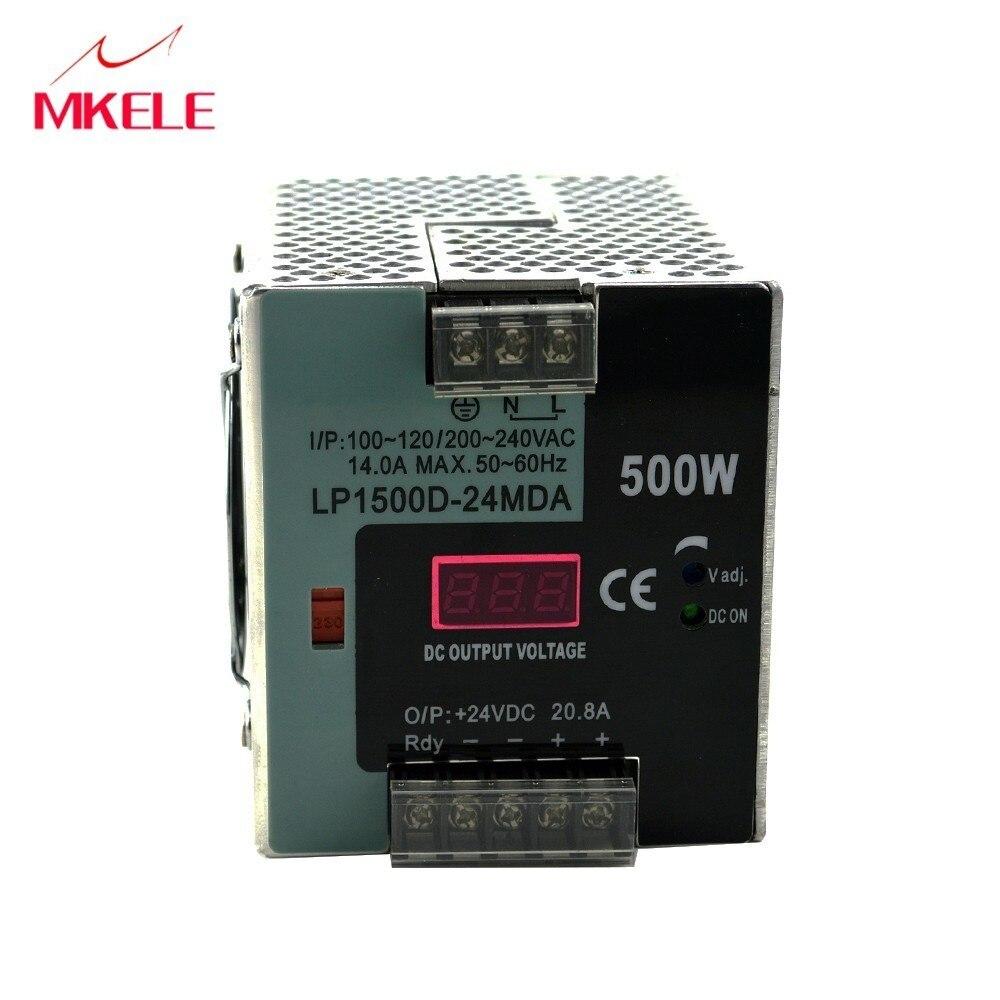 LP-500 Din Rail Voeding 12 V 24 V 500 W  Ajustable Din Rail Stroomvoorziening Led Display Enkele Output 37.5A 20.8A 10.4A
