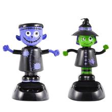 Solar Car Decoration Automatic Swing Shaking The Ghost Doll Witch Auto Interior Creative Personality