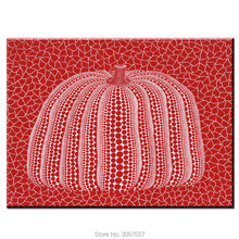 Free Shipping DHL Wall Art Kusama Yayoi Red PUMPKIN Painting For Living Room Home Decoration Handmade Oil On Canvas