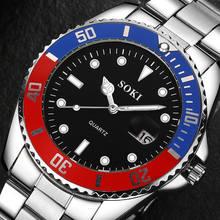 2019 Best Mens Watches Top Brand Luxury Men Stainless Steel Calendar Business Waterproof Sports Quartz Wrist Watch reloj relogio
