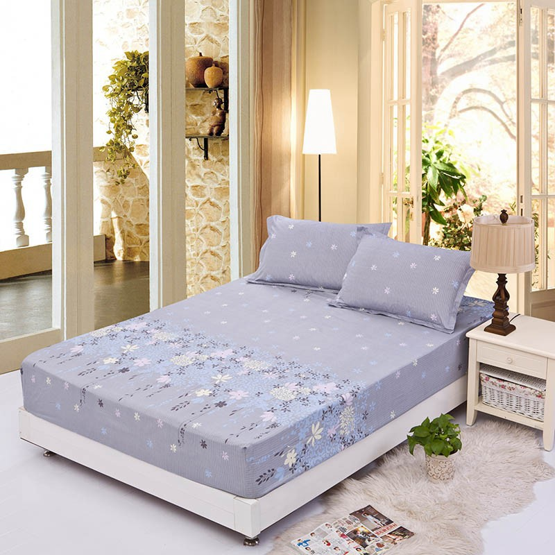 Home textile bed sheet sheet flower mattress cover printing bed sheet elastic rubber bedclothes 180*200cm summer bedspread band 17
