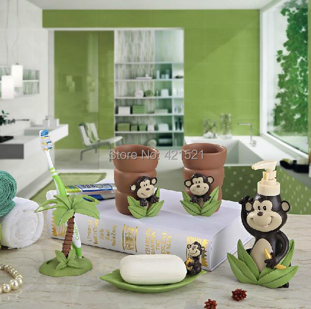 Attrayant Fashion Monkey Five Pieces Set Of Bathroom Set Bathroom Supplies Kit Resin  Bath Accessories In Bathroom Accessories Sets From Home U0026 Garden On ...