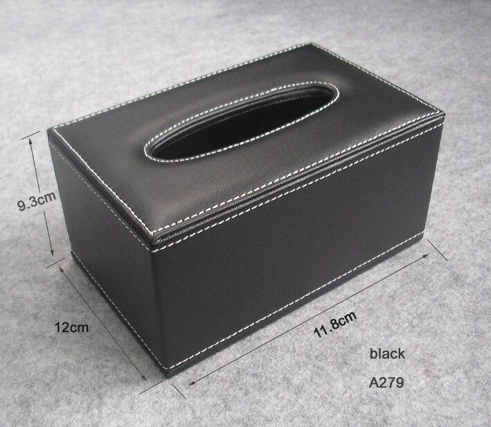 Wood Struction Leather Rectangle Tissue Box Napkin Toilet
