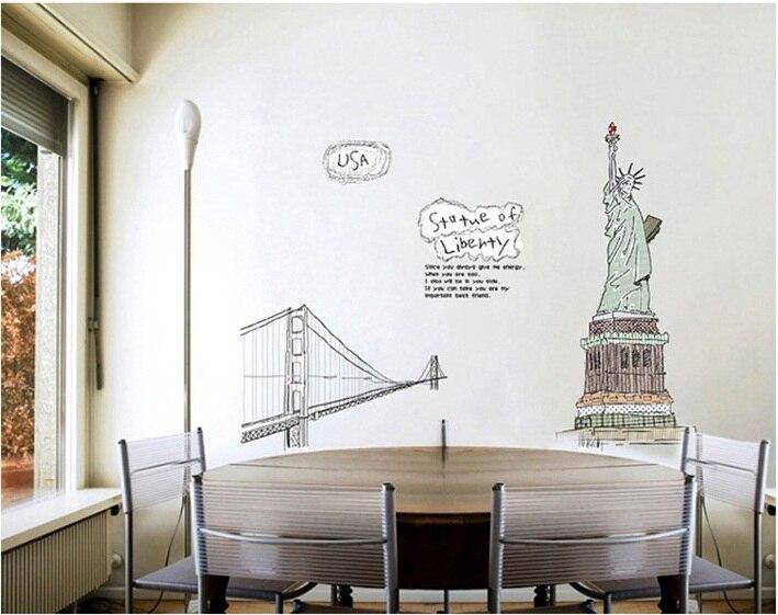 Usa Status Of Liberty Wall Sticker