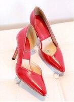 женщины свадебные туфли красные днища туфли на каблуках сексуальная женщина туфли на высоком каблуке дамы острым носом туфли на каблуках 0647