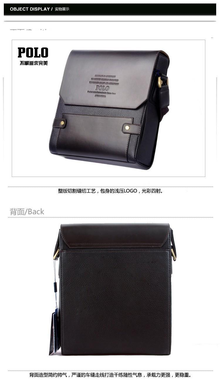новый итальянский бренд поло мужские сумки из натуральной кожи сумки классический дизайн мужские сумки посыльного плеча сумку портфель бизнес