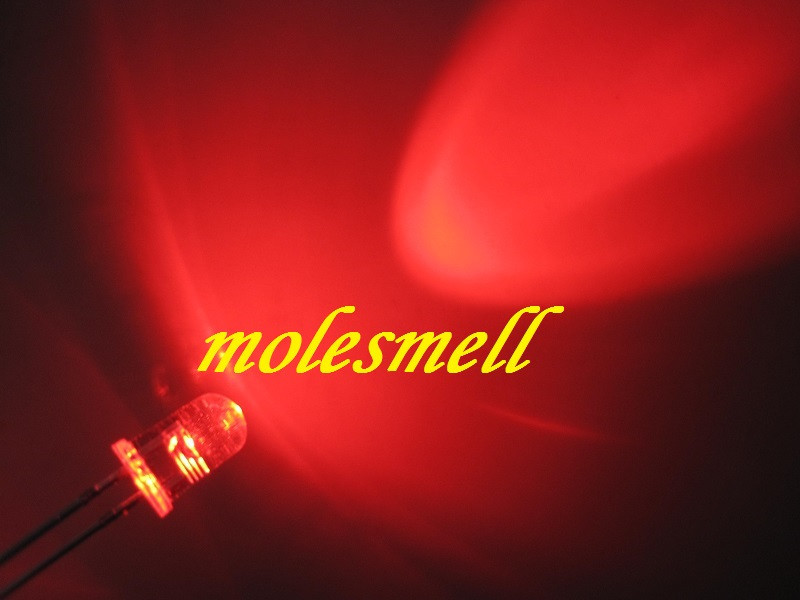 luz 5mm água claro redondo led vermelho