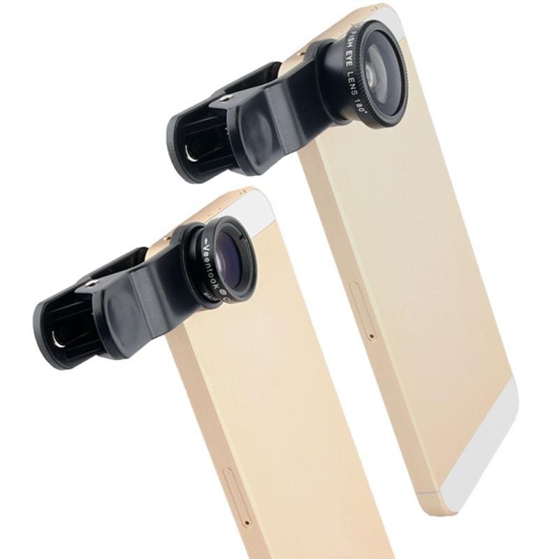 """20 шт./лот осино универсальный 3 в 1 объектив """"рыбий глаз"""" с глаз / широкоугольный / макро-объектив для всех мобильных телефонов"""
