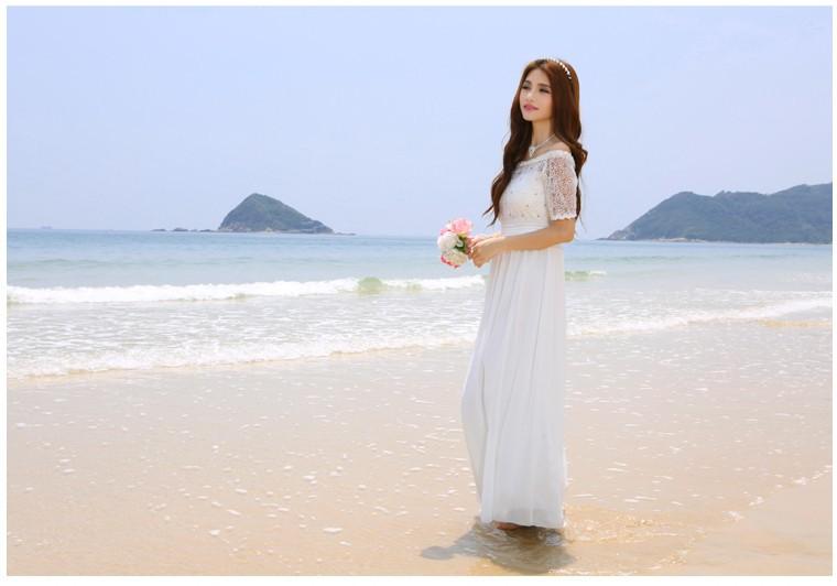 лето новый комплект beer шею lanka изделия Romantic line платье платье платье Уэйд странице