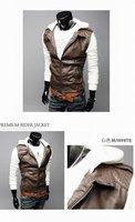 бесплатная доставка! новых прибыл бесплатная доставка / популярные мужская куртка / мода мужская искусственная кожа куртка / мужская кожаная одежда
