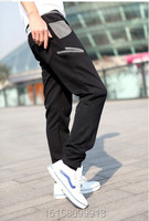 горячие мужские досуг спорта буквы печать дизайн большой карман штаны высокое качество свободного покроя брюки