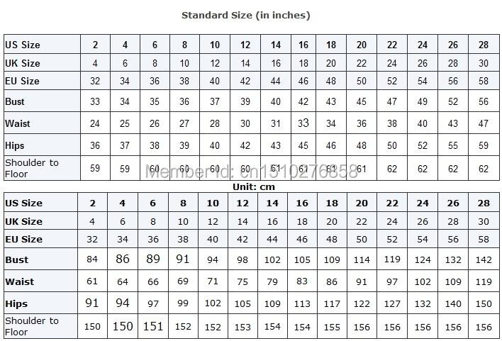 Size conversion table in inch inch   cm this chart just for wedding dress bridesmaid prom also zm strapless mermaid bling dresses luxury rh aliexpress