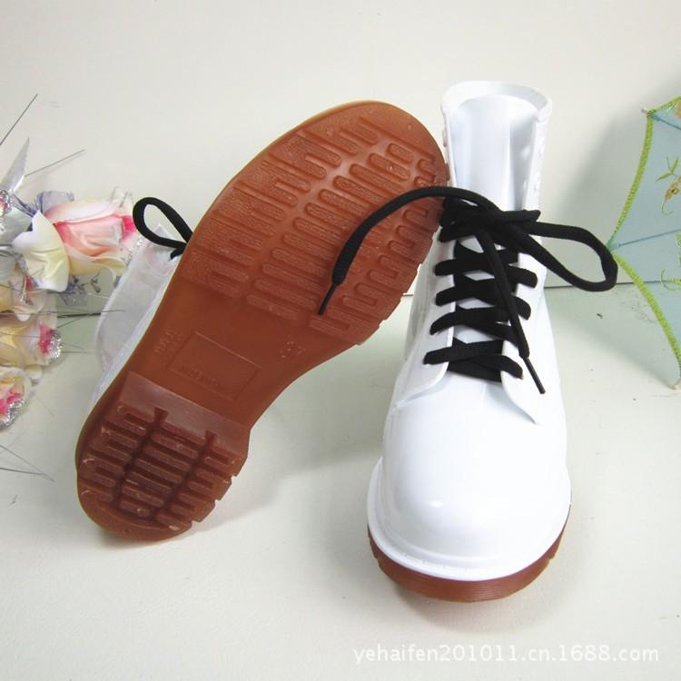 бесплатная доставка пвх прозрачные женщин красочные кристально-прозрачного квартиры на высоких каблуках воды туфли женский rainboot мартин дождь ботинки