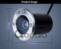 1 вт водонепроницаемый ip68 Сид ac85-Сид 265v светодиодные открытый первом сад путь двор этаж pose телефон проектор лампы проход света