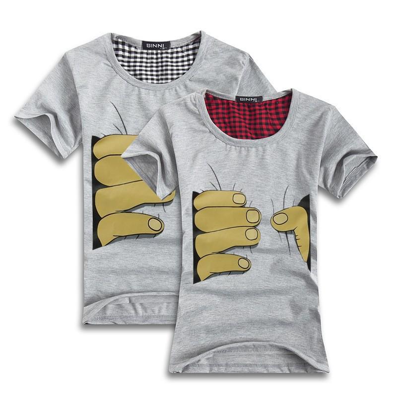 se184 цена промотирования новый короткий рукав персонализированные и творческие майка мужчины и женщины рубашка, пара майка, рубашки любителей
