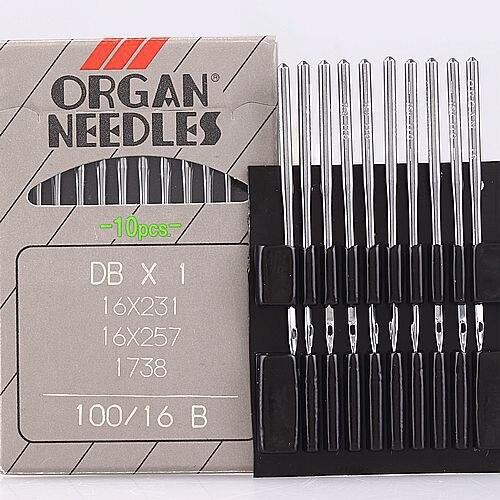 16 x 257 Embroidery Needles Organ Machine 16 x 231 Size 16