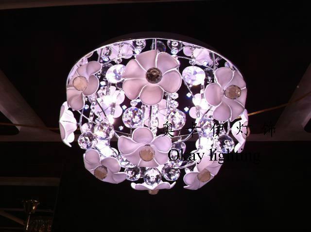Plafoniere In Cristallo A Soffitto : Fiori di cristallo plafoniere camera da letto moderno e