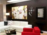 а . п . только в 3D лучшие украшения дома зеркало Nest часы Сделай сам часы зеркало наклейки на стену часы