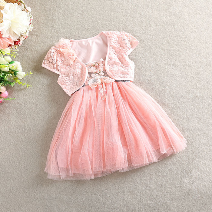 Girl Summer Dresses with Coat Kids Lace Dress and Cardigan Suit ...