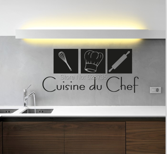 free shipping modern french wall stickers cuisine , home