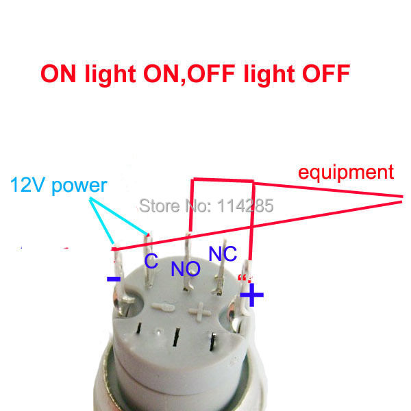 HT17cxdFQFdXXagOFbXZ 12v 16mm push button metal on off switch for car emergency hazard  at edmiracle.co