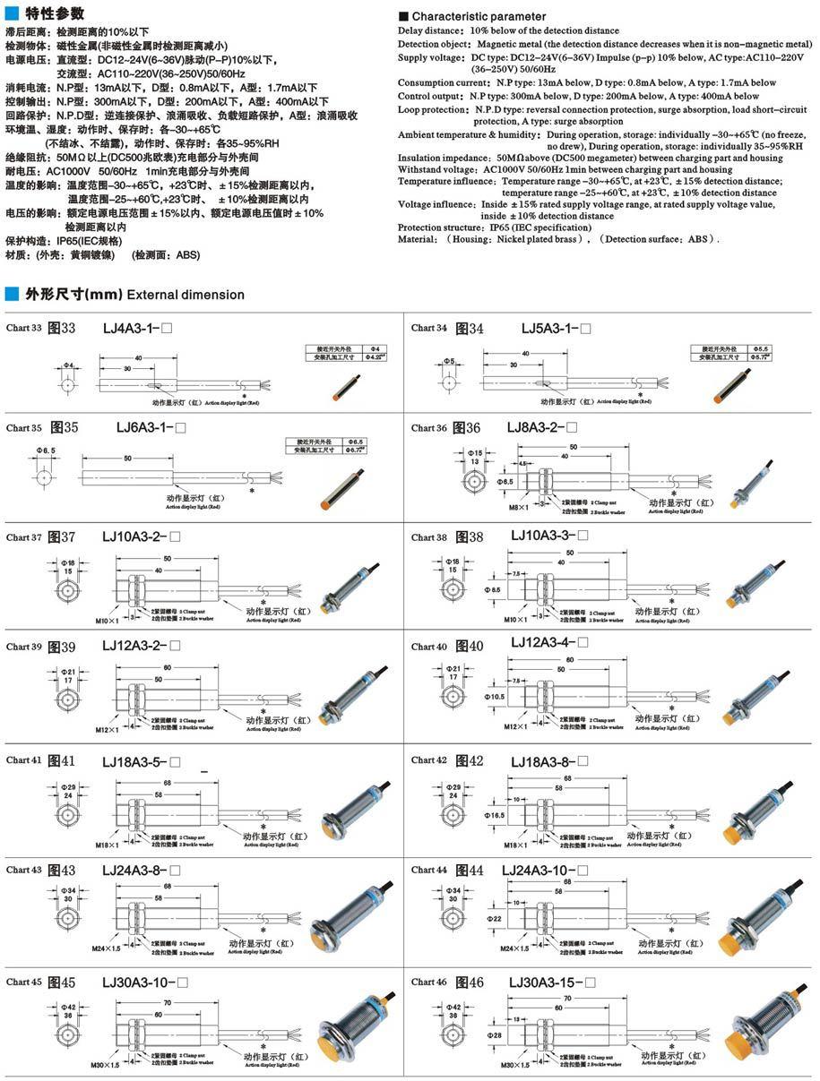 Inductive Proximity Switch Lj30a3 15 Z Cy Pnp Four Wire Dc Us243 Prox Wiring Diagram