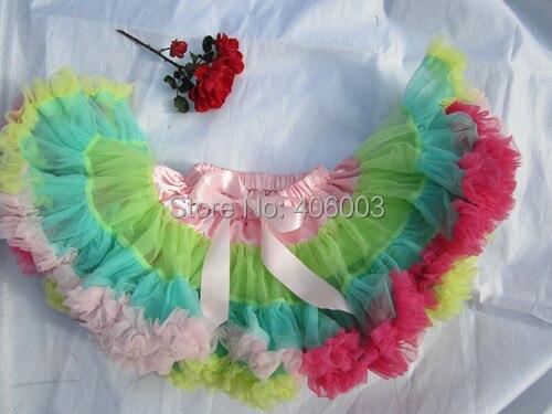Премиум юбка-американка для девочек, шифоновая пышная танцевальная юбка-пачка принцессы