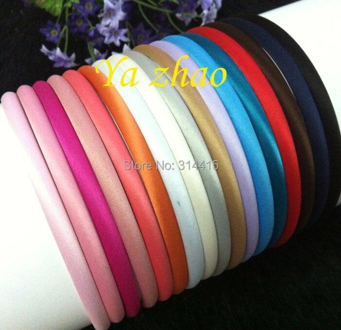 7 мм мягкие атласные покрытые пластиковые обручи, 17 цветов, 60 шт./партия