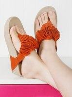 vonfon новый бренд лето платформа вьетнамках плоские цветы сладкий тапочки сандалии для женщин бесплатная доставка