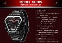 вайде мода спортивные часы мужчины из нержавеющей стали из светодиодов часы цифровой двойной время часов 30 м водонепроницаемые мужчины наручные часы