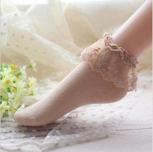 16 Fashionable Lovely Cute Fashion Women Vintage Lace Ruffle Frilly Ankle Socks Lady Princess Girl Favorite 5 Color Available 11
