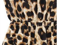 сумасшедший лето женщины в воротник-хомут был тонкий сексуальный леопардовый принт платье м L хl