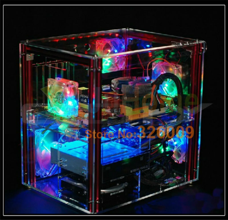 Luxury Diy Horizontal Transparent Pc Case Acrylic Support Atx M