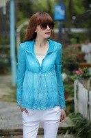 взрыв модели высокого качества см . мысль кружева с длинными рукавами с капюшоном хl солнцезащитный крем одежды для женщин