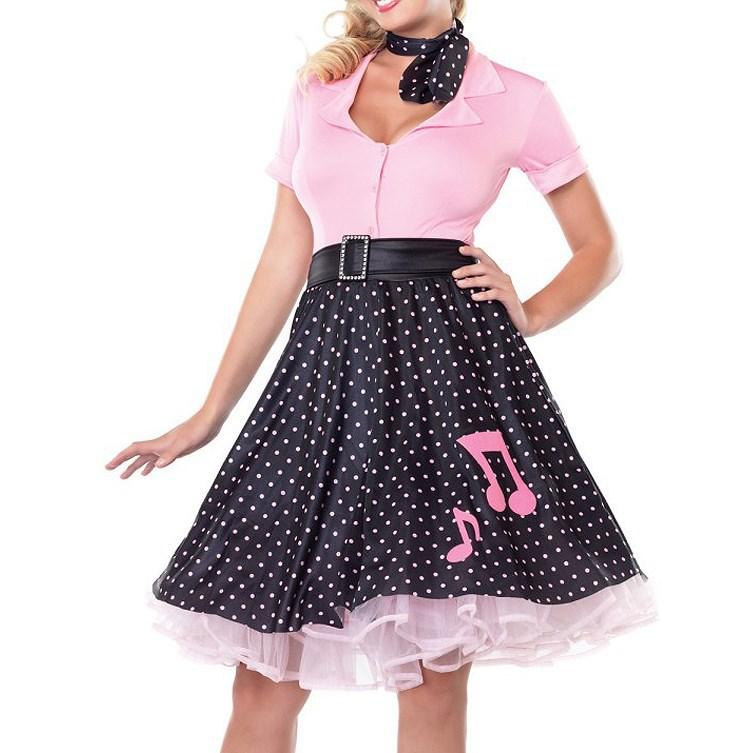 zy274 50s poddle dress costume