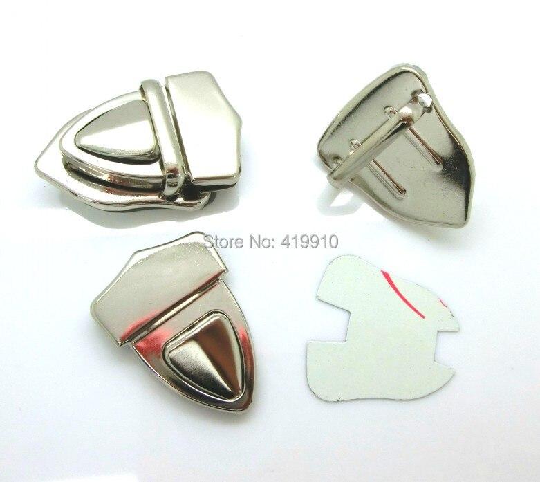 10 комплектов Серебряный тон багажник кошелек с замком застежки/замок для сумочки/сумки J1846