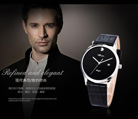 ультра-дешевый тонкий мужчины в часы бизнес ношение с дата дисплей