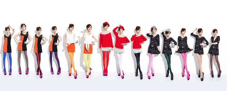 Candy color tights-3