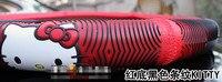 новый горячая распродажа милый мультяшном стиле руль 38 см низкая цена роскошных автомобилей оплетка мода красный бесплатная доставка
