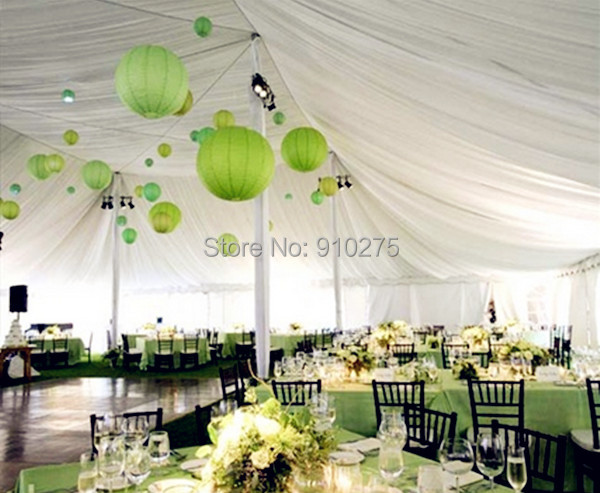 24 pcslot 12 lime green chinese paper lanterns baby shower wedding birthday party decoration kids holiday supplies - Green Canopy Decoration