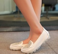 один обувь кожа Alma па днище обувь глобальное круглый горох крыльцо кристалл обувь